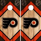 Philadelphia Flyers Cornhole Wrap NHL Wood Game Board Skin Set Vinyl Decal CO253 $39.95 USD on eBay
