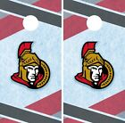 Ottawa Senators Cornhole Wrap NHL Hockey Game Board Skin Set Vinyl Decal CO306 $39.95 USD on eBay
