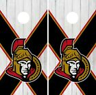 Ottawa Senators Cornhole Wrap NHL Wood Game Board Skin Set Vinyl Decal CO309 $39.95 USD on eBay