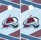 Colorado Avalanche Cornhole Wrap NHL Hockey Game Skin Set Vinyl Decal CO332 $39.95 USD on eBay