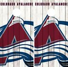 Colorado Avalanche Cornhole Wrap NHL Logo Game Board Skin Set Vinyl Decal CO337 $39.95 USD on eBay