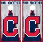 Cleveland Indians Cornhole Wrap MLB Wood Game Board Skin Set Vinyl Decal CO387 on Ebay