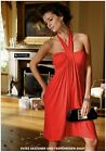 NEU! LAURA SCOTT EVENING® NECKHOLDER PARTY / COCKTAIL -  KLEID SEXY IN ROT GR.34