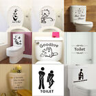 Quote Bathroom Art Wall Stickers Toilet Seat Removable Decals Decor Mural New