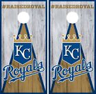 Kansas City Royals Cornhole Wrap MLB Wood Game Board Skin Set Vinyl Decal CO405 on Ebay