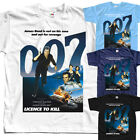 James Bond Licence to kill  T-SHIRT (WHITE,ZINK,SKY BLUE) all sizes S to 5XL $22.67 CAD