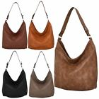 Women's New Faux Leather Slouch Fashion Hobo Bag Handbag