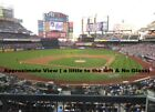 Купить 2 NY Mets Tickets 1st row 4/1/18 with All You Can Eat & Drink Buffet included