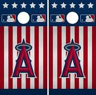 Los Angeles Angels Cornhole Wrap MLB America Game Skin Set Vinyl Decal CO409 on Ebay