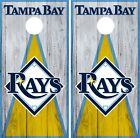 Tampa Bay Rays Cornhole Wrap MLB Vintage Game Board Skin Set Vinyl Decal CO435 on Ebay