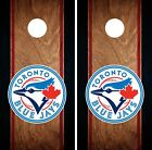 Toronto Blue Jays Cornhole Wrap MLB Game Board Skin Set Vinyl Decal Art CO449 on Ebay