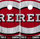 Cincinnati Reds Cornhole Wrap MLB Logo Game Board Skin Set Vinyl Decal CO479 on Ebay