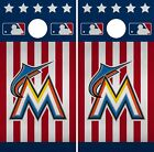 Miami Marlins Cornhole Wrap MLB America Game Board Skin Set Vinyl Decal CO490 on Ebay