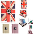 New Union Flag Rose/Gold Rotating Case Cover for iPad 234 Mini Air 1/2 All Model