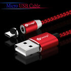 US 1/2M 360° Micro USB Cable Magnetic Cable For Samsung 5V/2.1A Fast Charger Lot