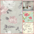 Arthouse Renoir Chintz Wallpaper - Large Flower Design - Shabby Chic Floral Wall
