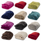 Luxury Soft Warm Mink Faux Fur Throw Fleece Blanket Bedding Single to King Sizes