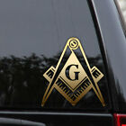 "Freemason Decal Sticker 9"" Compass Square Illuminati Mason Window Car Truck"