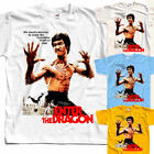Enter the dragon Bruce Lee T-SHIRT (WHITE,NATURAL,SKY BLUE) all sizes S to 5XL