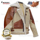 WWII B3 Military Pilot Jacket Bomber Leather - USAAF ARMY Air Force USA Flight