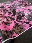DIGITAL PINK Camouflage Vinyl Car Wrap Camo Digi Decal Sheet Roll Adhesive black