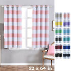 Cabana Stripe 52 x 64-Inch Window Drapes Curtains 2 Panels with Grommet Top