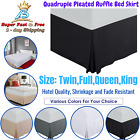 "Queen King Size Bed Skirt 15"" Wrinkle Free Full Twin Bedding Accessories Bedroom image"