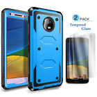 For Motorola Moto E4 / E4 Plus Shockproof Hybrid Hard Soft Slim Phone Case Cover