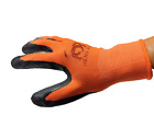 5 OR 10 PAIRS OF LATEX RUBBER PALM STRING KNIT WORK GLOVES ( MEDIUM OR LARGE