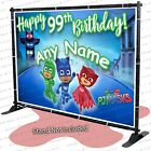 PJ Mask Birthday Banner Party Backdrop Decoration Customize