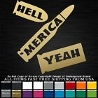 'merica Bullets Hell Yeah Decal Sticker Truck Jeep
