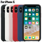 IPhone 8 Plus X 7 6 6S OEM Original Silicone Luxury Ultra-Thin Case Cover Hot