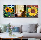 Sunflowers Theme Photo Print Painting Canvas Abstract Home Art Wall Decor Frame