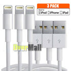 3 Pack - 3FT 8Pin USB Data Sync Charger Cable Cord for iPhone 5s 6 6s 7 8 Plus X