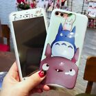 Tempered Glass Film + Cute Totoro Soft Phone Case Cover For iPhone 6S/7/8/X Plus