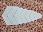 HEXAGON PATCHWORK PAPER TEMPLATES FOR E P P~160GSM CARD~ALL SIZES AND QUANTITIES