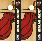 Miami Heat Cornhole Wrap NBA Logo Game Skin Board Set Vinyl Decal CO643 on eBay