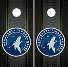 Minnesota Timberwolves Cornhole Wrap NBA Game Skin Set Vinyl Decal Art CO657 on eBay