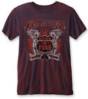 Johnny Cash 'Ring Of Fire' (Navy / Red) Burnout T-Shirt - NEW & OFFICIAL