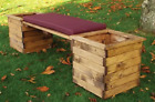 Hand Made Charles Taylor Rustic Wooden Traditional Deluxe Planter Bench-Set