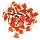 Wedding decoration, mini pegs red love heart mini wooden craft pegs for favours