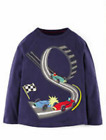 Boys top MINI BODEN T shirt long sleeve age11 12 years racing car
