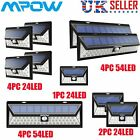 Mpow Outdoor 24/54 LED Solar Powered Light Motion Sensor Security Wall Lights