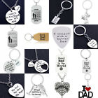 Fathers Day Present For Dad Birthday Gifts Daddy Necklace Jewelry Bracelet Charm