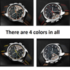 SKMEI Mens Leather Deluxe date quartz Waterproof Sport Watches
