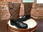 Bare Traps Dolly Brown Quilted Waterproof Rainboots Snow Boots NEW