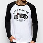 Cafe Racer classic Motorcycle triumph norton enfield long sleeve t-shirt oz9167 $19.79 CAD on eBay