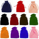 10 20 50 Quality Velvet Jewellery Drawstring Wedding Gift Favour Pouches Bags