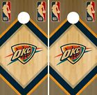 Oklahoma City Thunder Cornhole Wrap NBA Game Board Skin Vinyl Decal Art CO672 on eBay