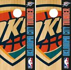 Oklahoma City Thunder Cornhole Wrap NBA Game Board Skin Vinyl Decal Logo CO673 on eBay